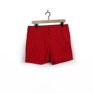 Ann Taylor Devin Fit Red Shorts Size 10